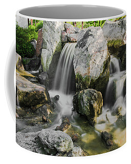 Osaka Garden Waterfall Coffee Mug by Jonah  Anderson