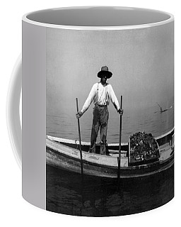 Oyster Fishing On The Chesapeake Bay - Maryland - C 1905 Coffee Mug by International  Images