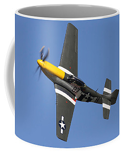 P51 Mustang Cadillac Of The Skies Coffee Mug by Ken Brannen
