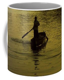 Coffee Mug featuring the photograph Paddle Boy by Lydia Holly