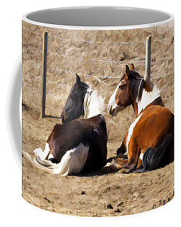 Coffee Mug featuring the photograph Painted Horses I by Angelique Olin