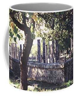 Coffee Mug featuring the photograph Palestra Olympic Site Greece by Tom Wurl