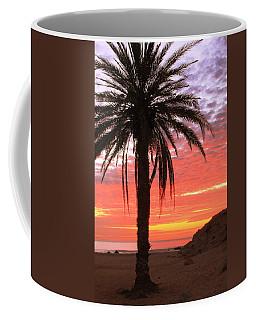 Palm Tree And Dawn Sky Coffee Mug