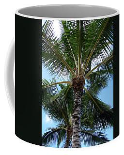 Coffee Mug featuring the photograph Palm Tree Umbrella by Athena Mckinzie