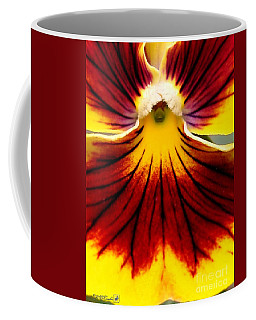 Coffee Mug featuring the photograph Pansy Named Imperial Gold Princess by J McCombie