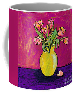 Parrot Tulips In A Yellow Vase Coffee Mug