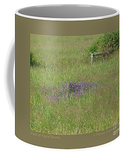 Patch Of Purple Flowers Coffee Mug by Patricia Overmoyer