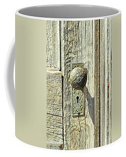 Coffee Mug featuring the photograph Patina Knob by Fran Riley