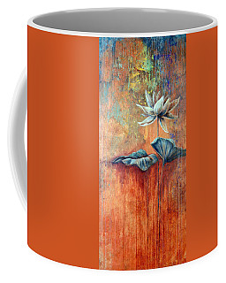 Patina Lotus Coffee Mug