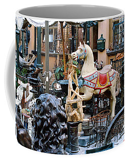 Coffee Mug featuring the photograph Pawn Shop In San Miguel Mexico 1991 by Phyllis Kaltenbach