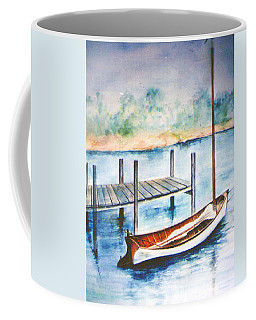Coffee Mug featuring the painting Pea Pod Boat by Lynn Buettner