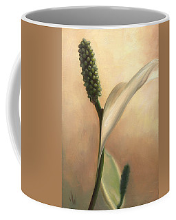 Coffee Mug featuring the painting Peace Lily by Joe Winkler