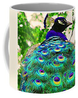 Peacock Bird Closeup Coffee Mug
