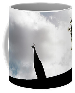 Peacock Sentry Coffee Mug