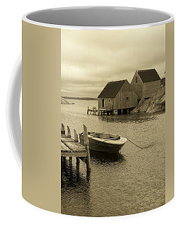Peggys Cove In Sepia Coffee Mug by Richard Bryce and Family