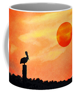 Coffee Mug featuring the photograph Pelican During Hot Day by Dan Friend