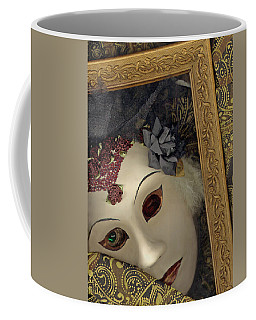Coffee Mug featuring the mixed media Pensive by Nareeta Martin