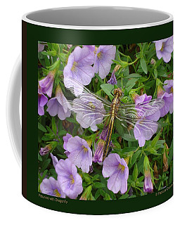 Petunias With Dragonfly Coffee Mug