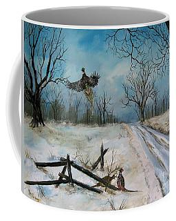Pheasants In The Snow Coffee Mug