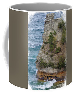 Coffee Mug featuring the photograph Pictured Rocks In Oil by Deniece Platt