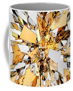 Coffee Mug featuring the digital art Pieces Of Gold by Phil Perkins