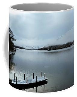 Coffee Mug featuring the photograph Pier On The Loch by Lynn Bolt