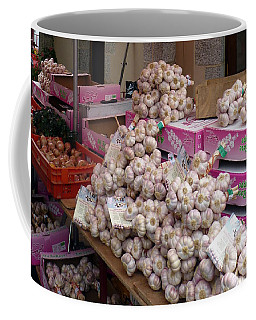Coffee Mug featuring the photograph Pink Garlic by Carla Parris