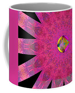 Coffee Mug featuring the digital art Pink Ribbon Of Hope by Alec Drake