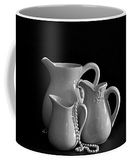 Pitchers By The Window In Black And White Coffee Mug