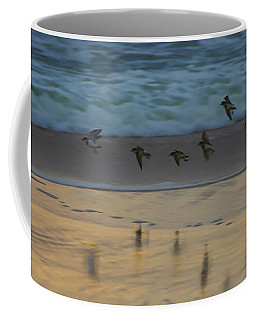 Plovers At Play On A Stormy Morning Coffee Mug