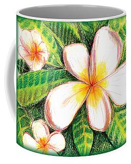 Plumeria With Foliage Coffee Mug