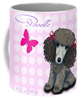Poodle Cartoon Coffee Mug by Catia Cho