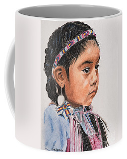 Pretty Native American Girl Coffee Mug