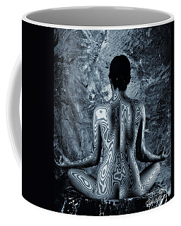 Coffee Mug featuring the photograph Psychedelic Om by Angelique Olin