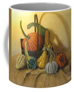 Pumpkin In A Basket Coffee Mug