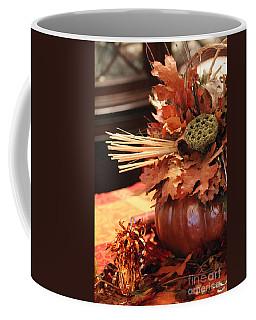 Pumpkin Leaf Decor Coffee Mug