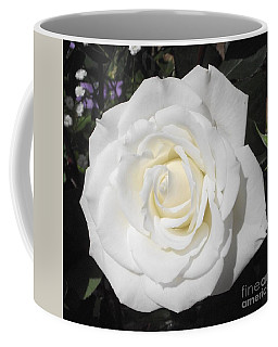 Pure White Rose Coffee Mug