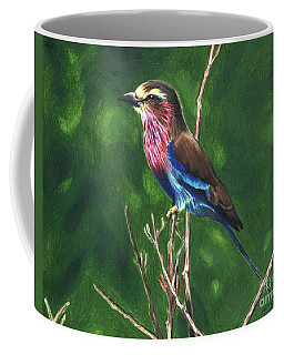Purple And Blue Bird Coffee Mug