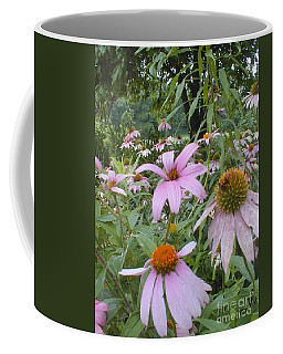 Coffee Mug featuring the photograph Purple Coneflowers by Vonda Lawson-Rosa