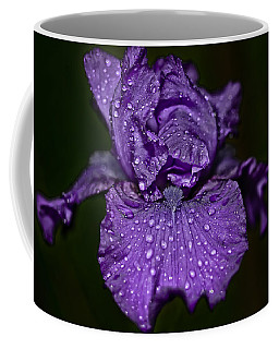 Purple Iris With Water Drops Coffee Mug