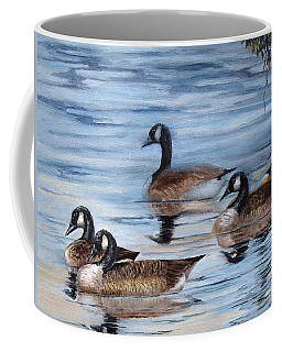Pushing Off Coffee Mug