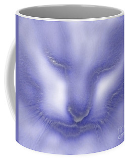 Digital Puss In Blue Coffee Mug by Linsey Williams