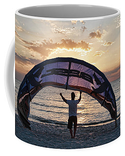 Putting Away The Kite At Clam Pass At Naples Florida Coffee Mug