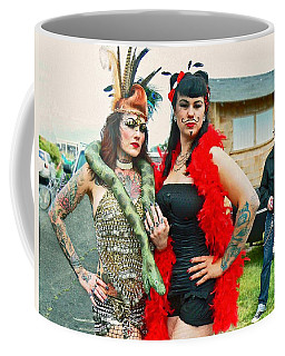 Queenie And Bettie Coffee Mug by Pamela Patch
