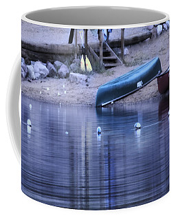 Coffee Mug featuring the photograph Quiet Canoes by Janie Johnson