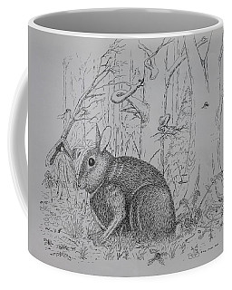 Rabbit In Woodland Coffee Mug
