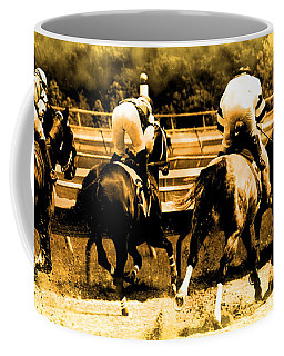 Coffee Mug featuring the photograph Race To The Finish Line by Alice Gipson