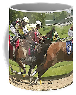 Coffee Mug featuring the photograph Racetrack Views by Alice Gipson