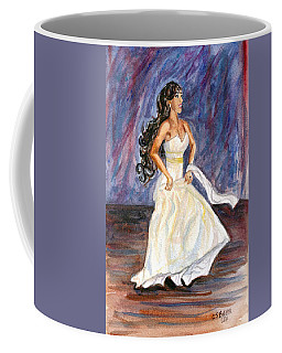 Coffee Mug featuring the painting Rachel by Clara Sue Beym