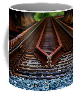 Railway Track Leading To Where Coffee Mug